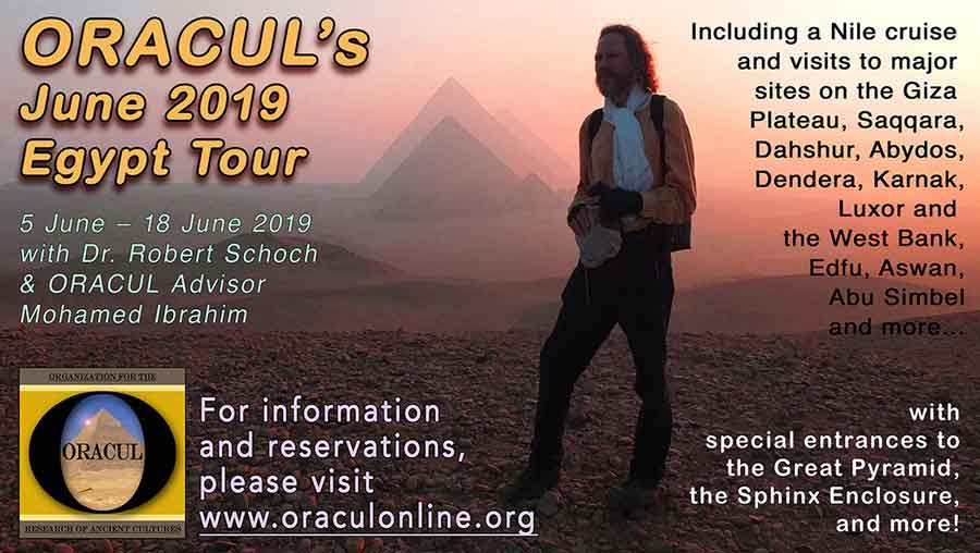 Promo for Egypt tour with Robert Schoch in 2019