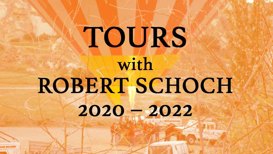 Promo for tours with Robert Schoch in 2020 - 2022