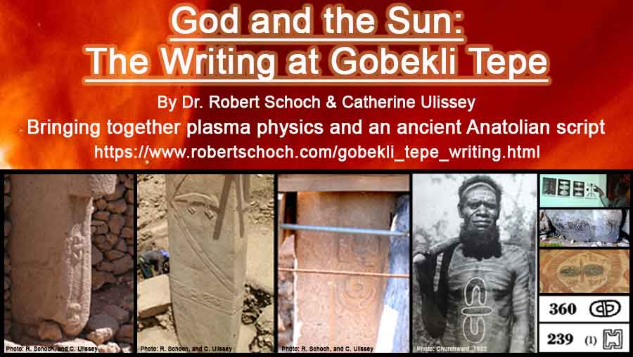 Small banner for Robert Schoch's new article regarding the writing at Göbekli Tepe