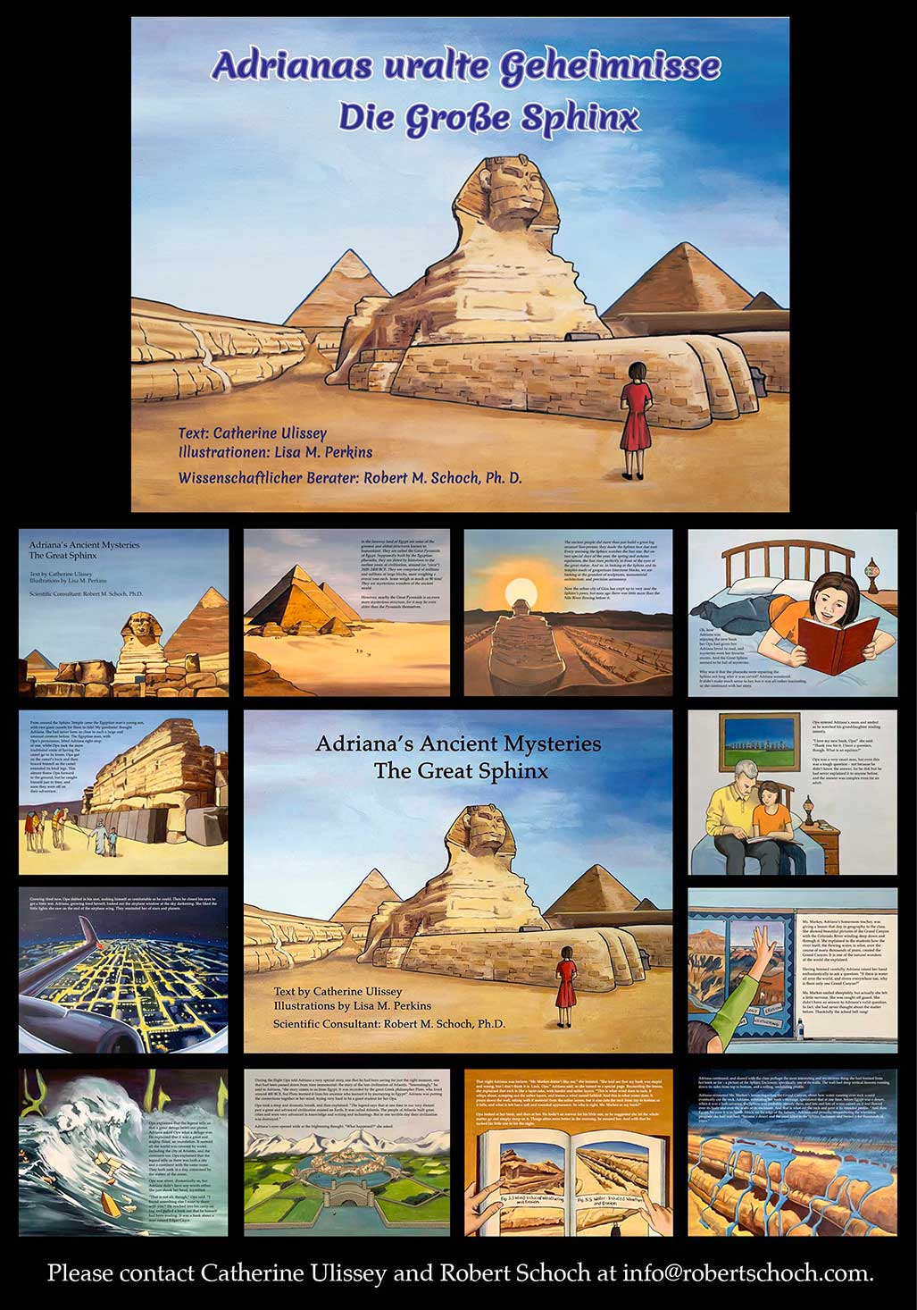A montage of images from Adrianas Ancient Mysteries: The Great Sphinx